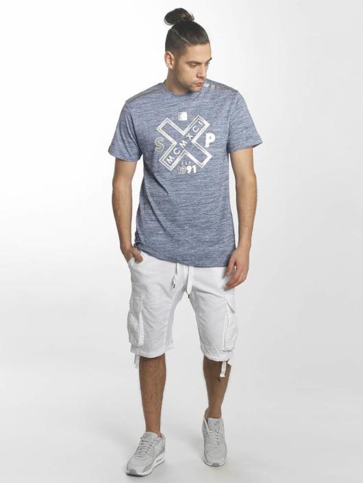 Southpole T-Shirty Marbled niebieski