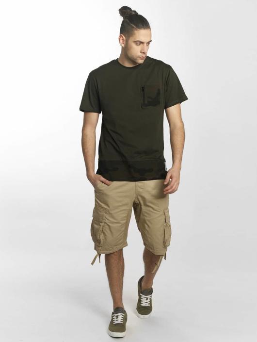 Southpole T-Shirty Pocket oliwkowy