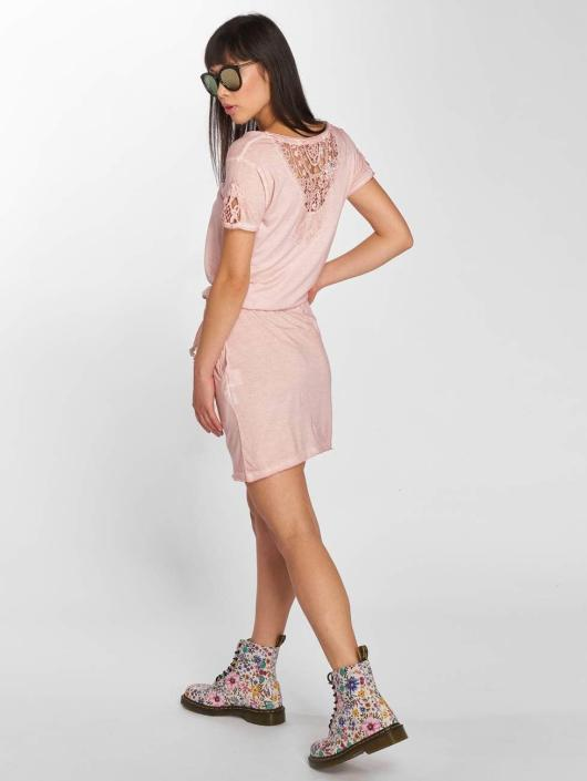 Stitch & Soul jurk Midi rose