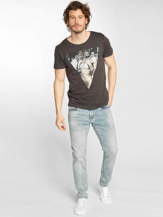 Stitch & Soul T-Shirt Follow The Sun gray