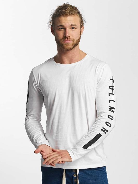 Sublevel Camiseta de manga larga Fullmoon Semilunar blanco