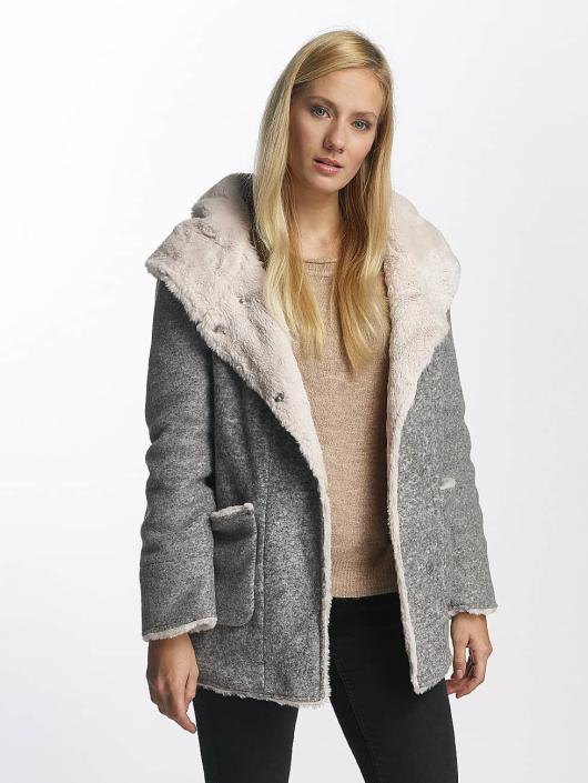 Sublevel Mantel Hooded Coat grau