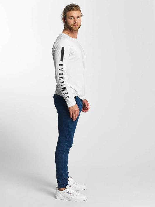 Sublevel T-Shirt manches longues Fullmoon Semilunar blanc
