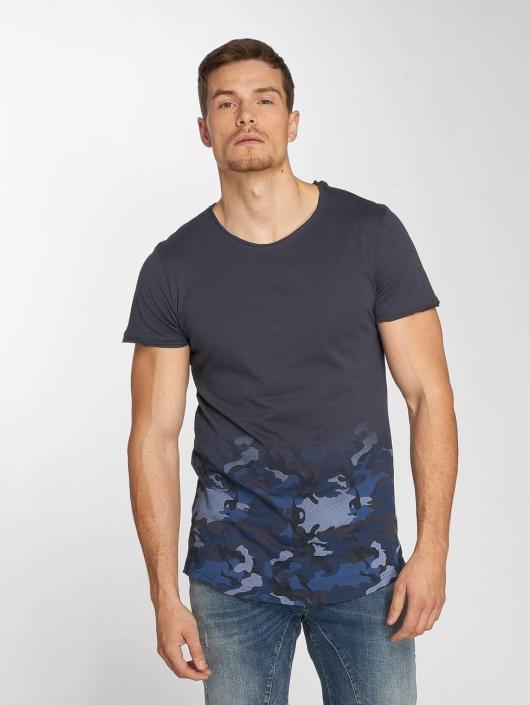 Sublevel T-Shirty Deep Camo niebieski