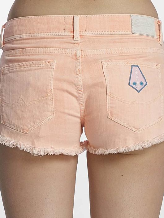 Superdry Шорты Denim Hot Shorts Miami оранжевый
