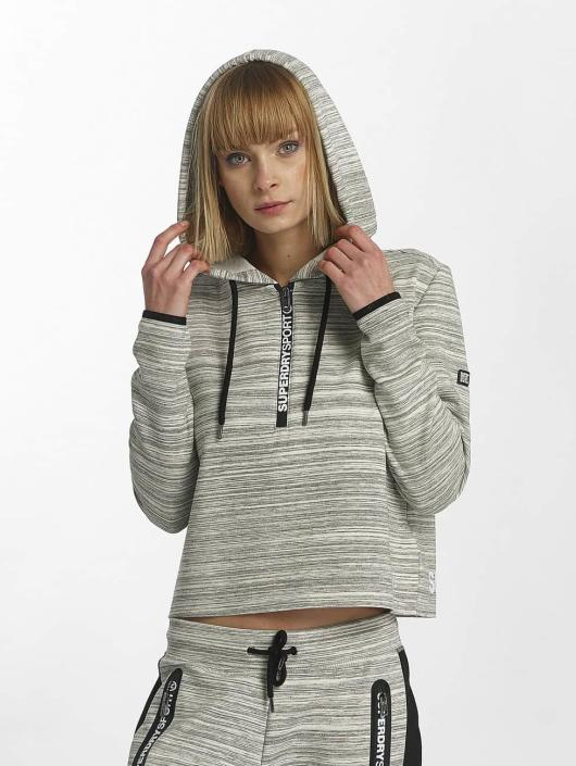 finest selection 1e138 766a3 Superdry Sport Gym Technical Luxe Crop Hoody Grey Slub