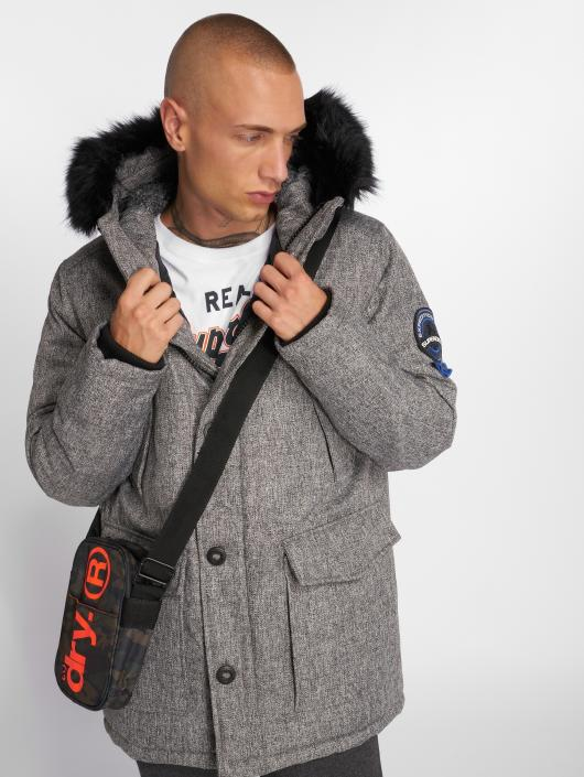 size 40 ac127 f78ac Superdry Everest Tweed Parka Charcoal Tweed