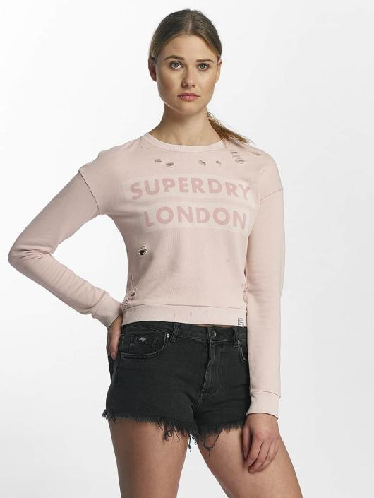 Superdry Pullover Distress Boxy rose