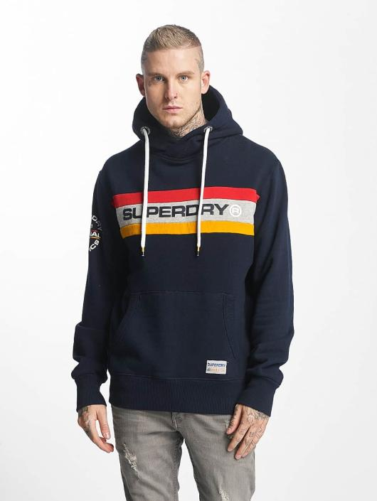 Superdry   Trophy Chest Band bleu Homme Sweat capuche 430013 2361c8a033dc