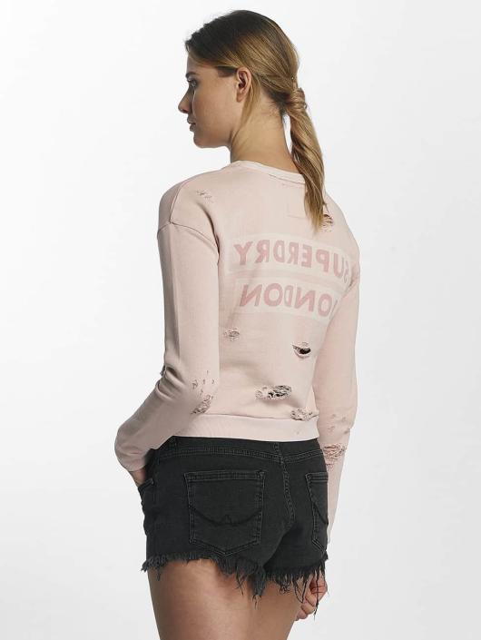 Superdry Swetry Distress Boxy rózowy