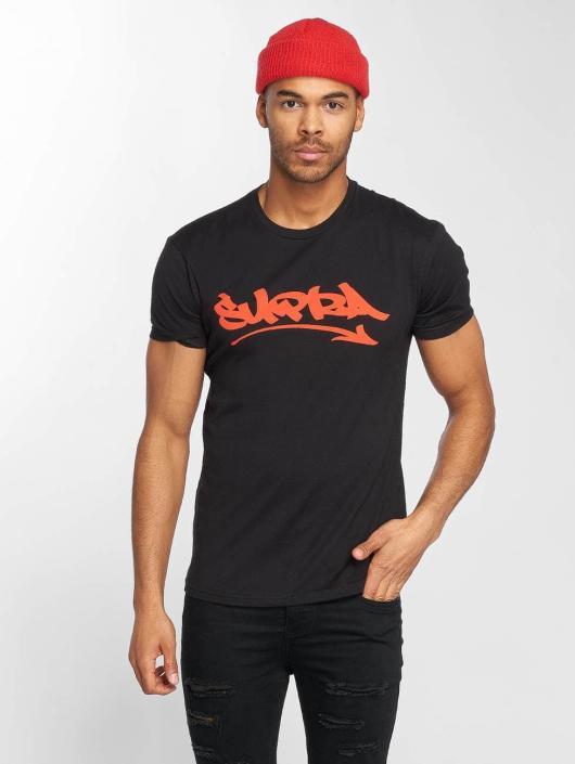 Supra T-Shirty Marker Felt czarny