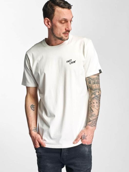 The Dudes T-Shirt Fast Livin weiß