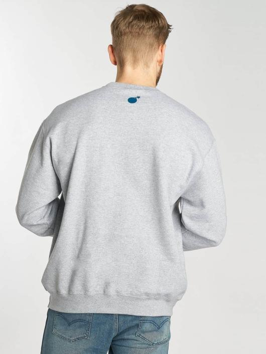 The Hundreds Pullover Search Slant grau