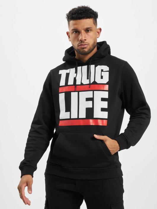 Thug Life Basic Hoodie Block Logo gray