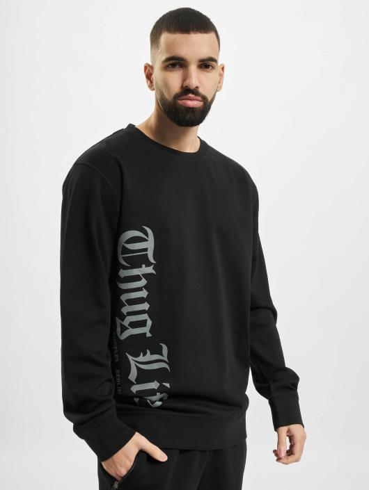 Thug Life Basic Pullover Old Engish black