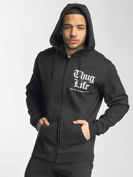 Thug Life Basic Zip Hoodie Chest Cities czarny