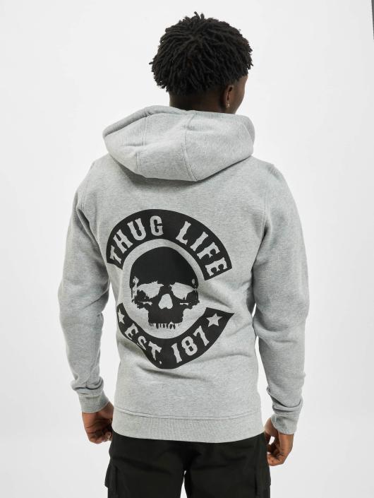 Thug Life Basic Zip Hoodie Skull grå