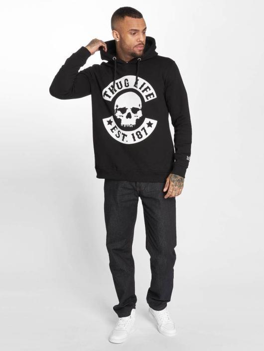 Thug Life Bluzy z kapturem B.Skull czarny