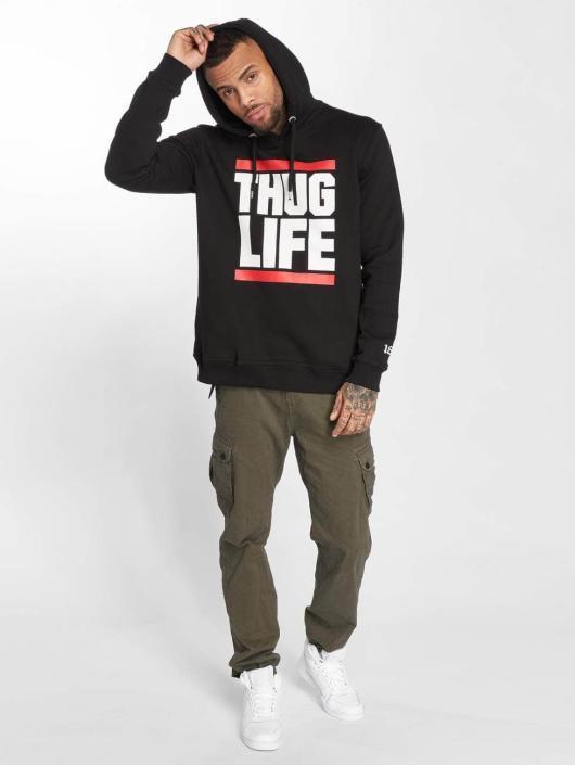 Thug Life Bluzy z kapturem B.Fight czarny