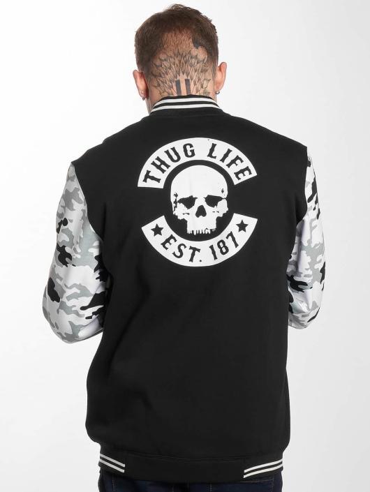 Thug Life College Jacke Ragthug schwarz