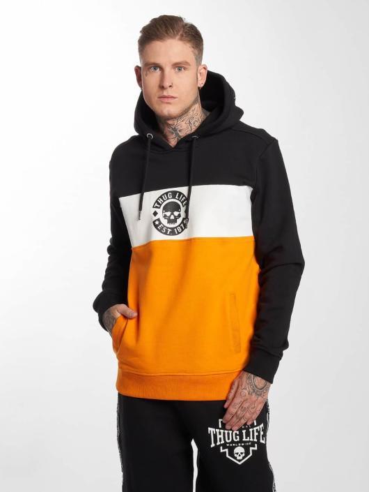 Thug Life Hoodie Lion apelsin