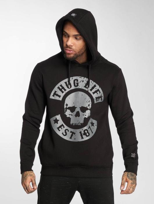 Thug Life Hoodie B.Distress black