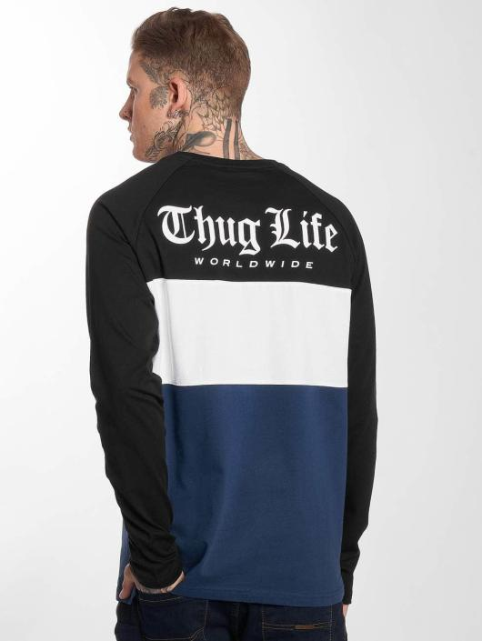 Thug Life Longsleeves Lion modrý