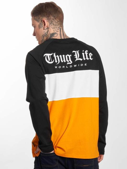 Thug Life Longsleeves Life Lion oranžový
