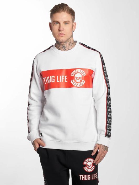 Thug Life Pulóvre Lux biela