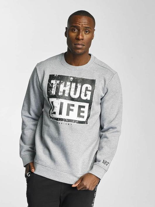 52e51829f4993 Thug Life   Boxlife gris Homme Sweat   Pull 320410