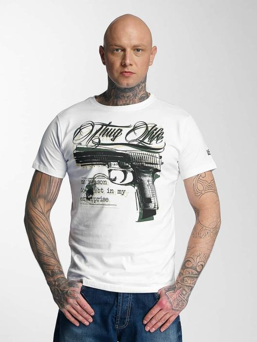 Thug Life T-Shirt no reason weiß
