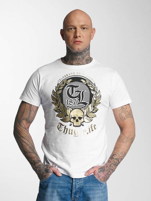 Thug Life T-Shirty Celebrate bialy