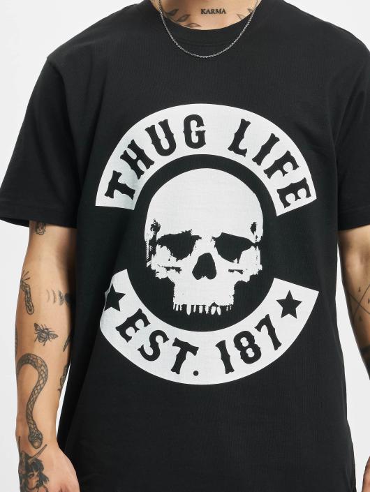 Thug Life T-Shirty B.Skull czarny