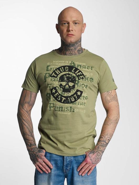 Thug Life T-skjorter Violance oliven