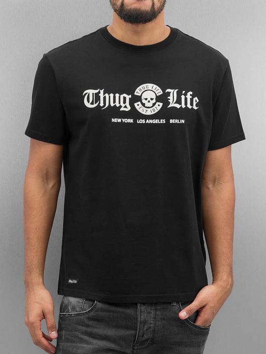 Thug Life T-skjorter Rule svart