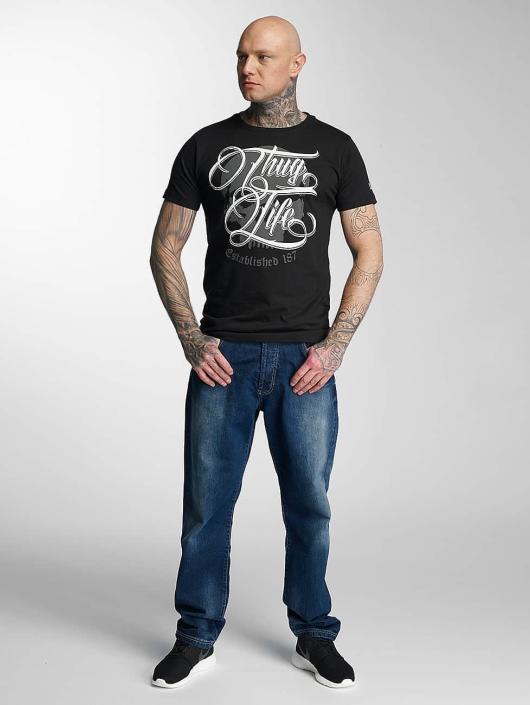 Thug Life T-skjorter 187 svart