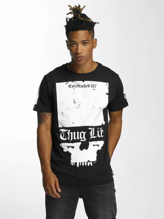 Thug Life T-skjorter Blind svart