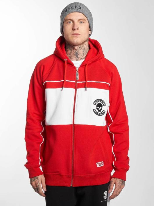 Thug Life Zip Hoodie Walk červený