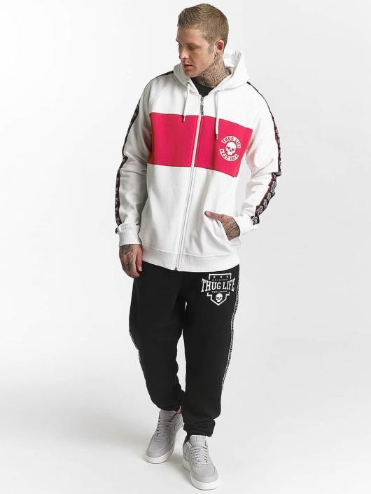 Thug Life Zip Hoodie Lux bílý
