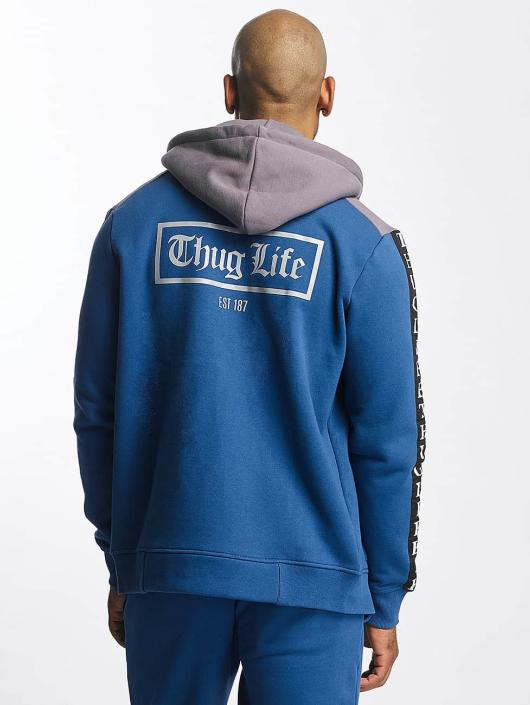 Thug Life Zip Hoodie Wired blå