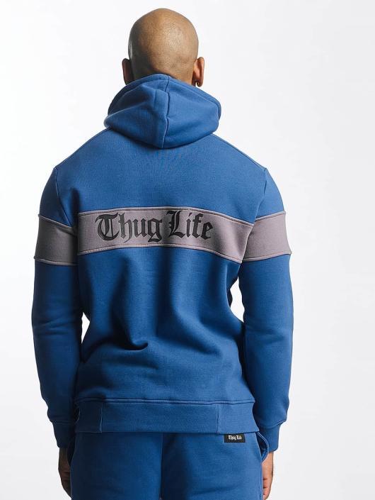 Thug Life Zip Hoodie Bar blau