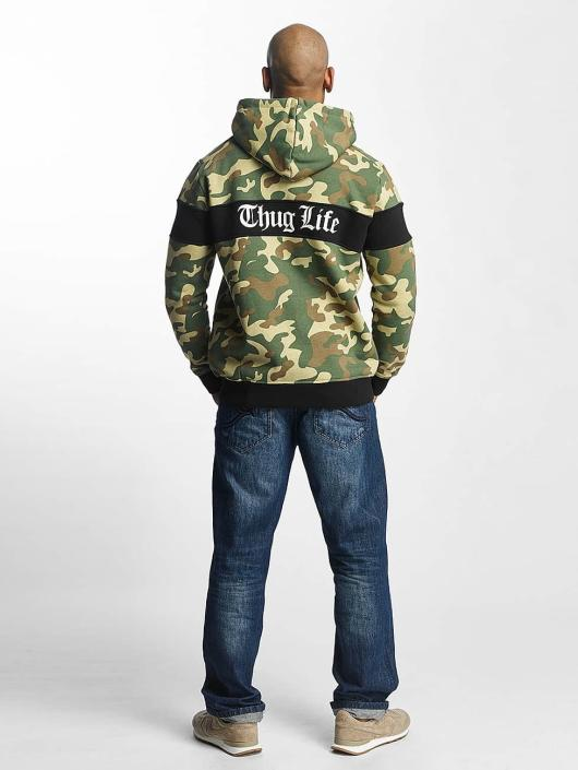 Thug Life Zip Hoodie Bar camouflage