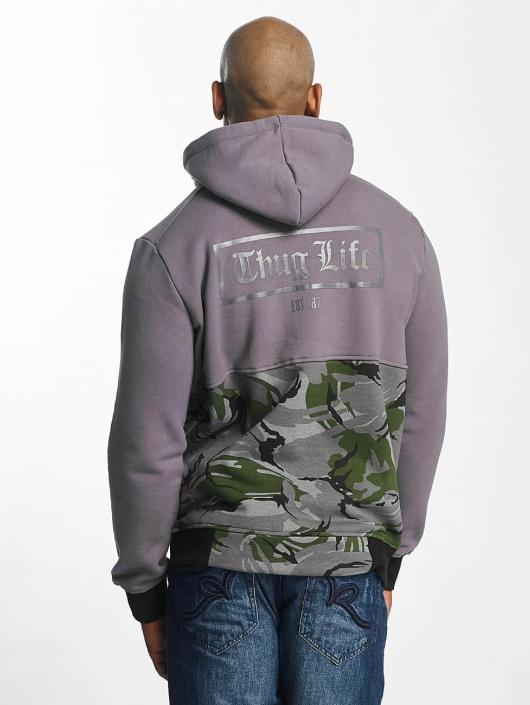 Thug Life Zip Hoodie THGLFE grau