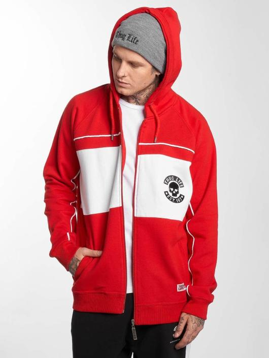 Thug Life Zip Hoodie Walk red