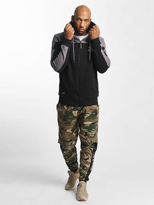 Thug Life Zip Hoodie Crock schwarz
