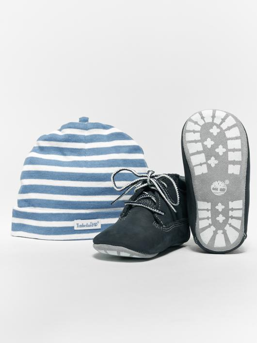 Timberland Crib Booties With Hat Navy