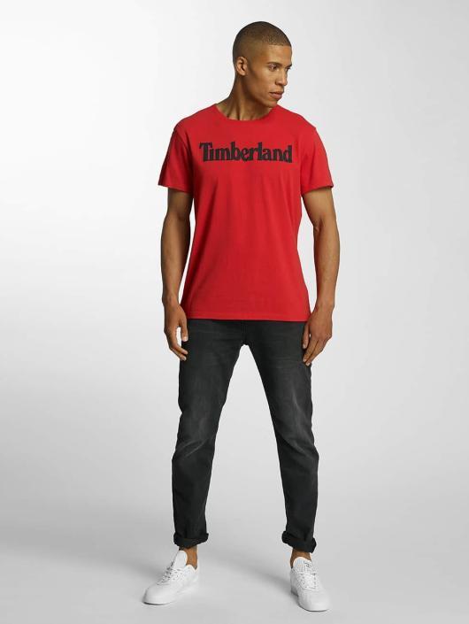 Timberland T-Shirt Lin Logo rot