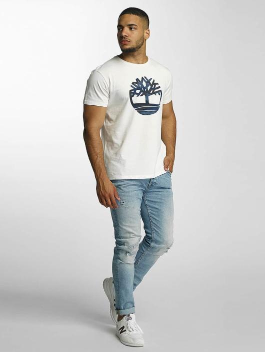 Timberland T-Shirt Dustan River Camo Print Brand white
