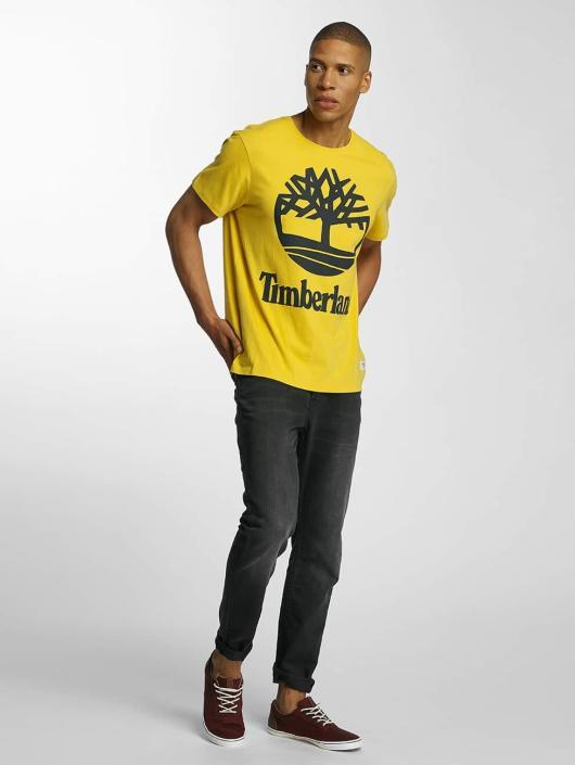 Timberland T-Shirty Big Logo zólty
