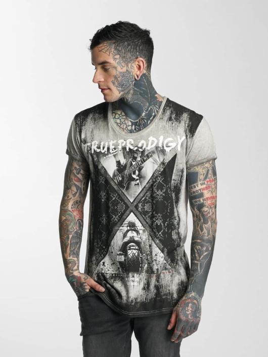 trueprodigy T-Shirt Rock & Riding grey